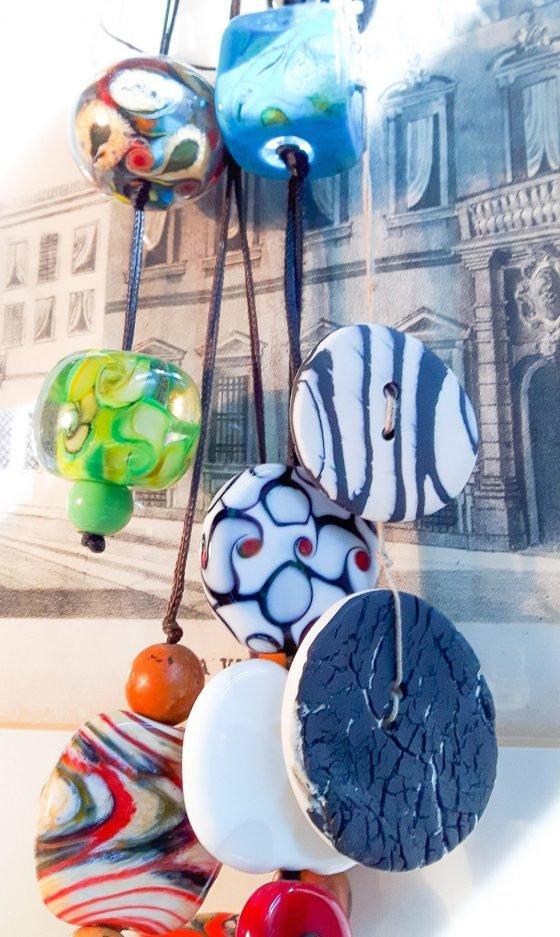 Bottoni in porcellana Nerikomi incontrano le perle di Murano